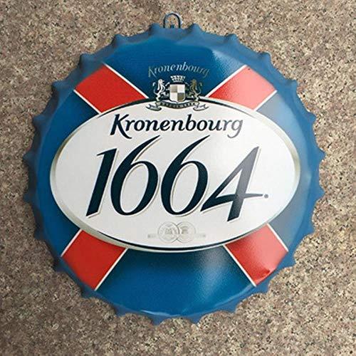Blechschild Kronenbourg 1664