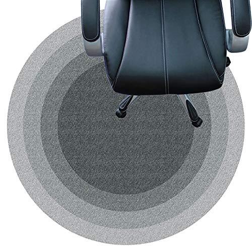 SYEA Protector Suelo Silla Resistentes Al Desgaste Silenciosas con Fondo Antideslizante Alfombrilla De Fácil Limpieza para La Oficina Y El Hogar(Size:80cm(31.5in),Color:UN)