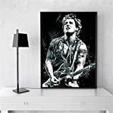Bruce Springsteen Rock Band Art Canvas Poster Home Decoración de la Pared Imprimir en Lienzo Canvas painting50x70cm sin Marco