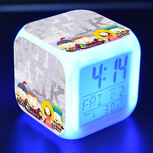 Juguete De Dibujos Animados, Reloj Despertador Para NiñOs, Led Que Cambia De Color, Reloj Digital, Escritorio, Noche, Luz Para Despertar, Regalo Brillante, Reveil ElectróNico 08
