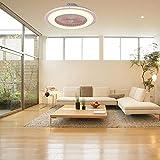 Ventilador de techo Lámpara Ventiladores de techo Luz, Candelabro Ventilador de techo Ventiladores(Pink, Tricolor)