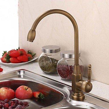ZULUX Tmaker- Vintage Style antike Messing Einhand-Küchenarmatur / Waschbecken Wasserhahn