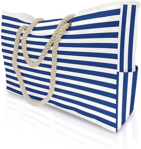 LucaSng Bolsa de playa extragrande para mujer con bolsillo interior, bolsa de hombro, color, talla XL-56*38*15CM