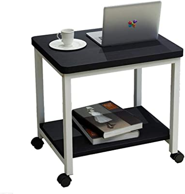 Movable Coffee Table Small Square Table Sofa Side Table Corner Table Bedside Table Computer with Pulley (Color : 3)