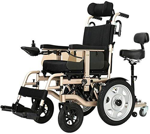 Silla de Ruedas eléctrica Plegable, 250W * 2 ruedas for trabajo pesado eléctrico, accionado plegable silla de ruedas Asiento Doble Motor Ancho 45cm 360 ° Joystick adaptarse a una variedad de p