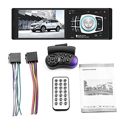 ZWMBAOR Coche Bluetooth Mp5 Reproductor,Receptores Estéreo Bluetooth 4.1 Pulgadas,Admite Cuatro Modos Reproducción,para Modificación del Interior del Automóvil