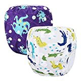 Storeofbaby Reutilizable Swim Nappies ajustable cubierta de pañal lavable para niños y niñas