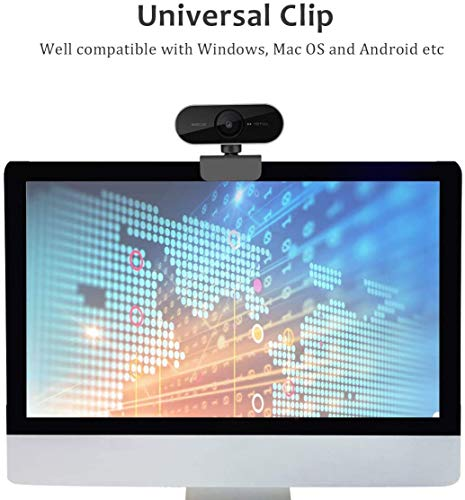 Webcam mit Mikrofon und Stativ, 1080P Kamera für PC Laptop Desktop, USB Computer Kamera für Videoanruf und Aufnahme, Studieren, Web Konferenzen, HD Webcam Kompatibel mit Windows, Mac und Android