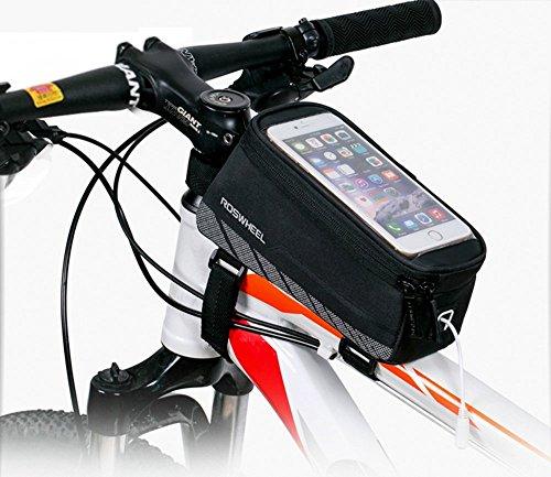 Intsun Bike Frame Top Tube Bag, Borsa Impermeabile Bici Manubrio da Bicicletta, Touchscreen Phone Storage Bag per iPhone 6s Plus/6s/6Plus/6Samsung 4.814cm Custodia per Cellulare