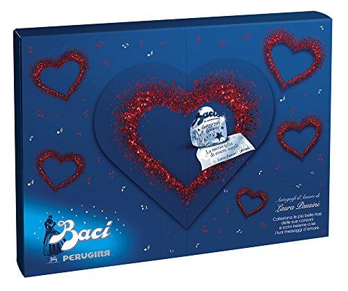 BACI PERUGINA Cioccolatini fondenti ripieni al gianduia e nocciola intera Autografi d'Amore Laura - scatola 343g