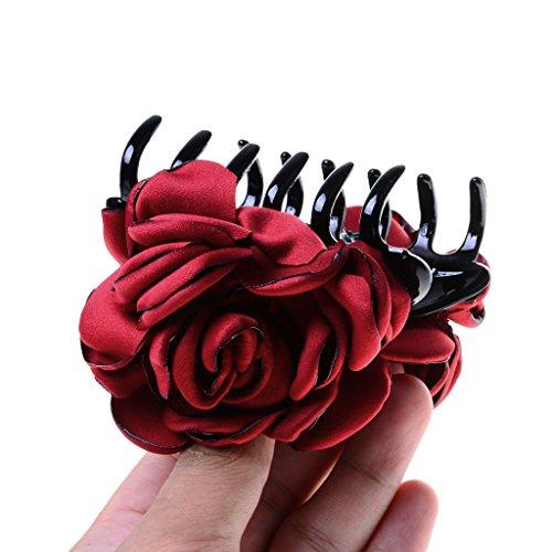 Haarspange - Haarclip - Haargreifer - Blumen Form - Haarklammer - Haarklemme - Haarschmuck - Wein