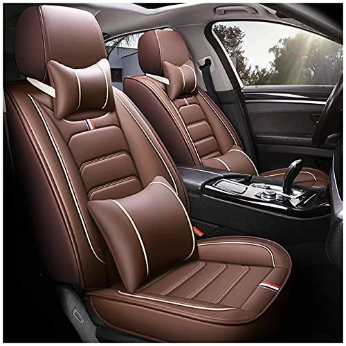 SONGYU Full Set Auto Kissen Autositzbezüge für Audi A4 Q3 Q7 Q5 Universal Fit Custom 5-Sitz Vorne Hinten Auto Protector Leder Innenausstattung Auto Umgeben,Weiß