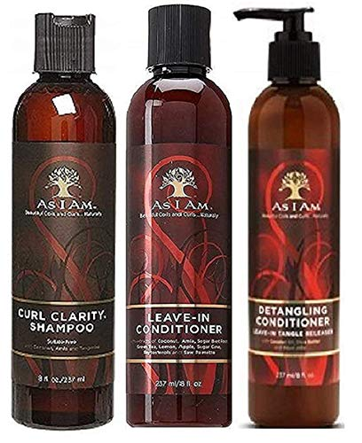 As I Am Naturally 3pcs Combo Deal (Curl Shampoo, Leave-In Conditioner and Detangling Conditioner)