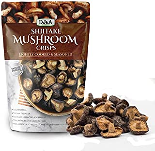 Shiitake Mushroom Crisps - Lightly Cooked and Seasoned 5.29 Ounce
