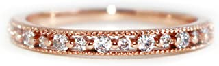 Excelsia 'Lilou' 14K Rose/White Gold-Plated CZ Crystal Ring