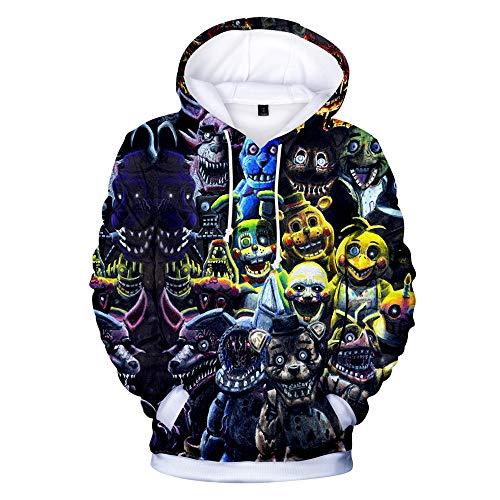 Five Nights at Freddy'S Pullover Sudadera con Jersey Estampado Ocio Hipster Ropa Deportiva Camisetas de Manga Larga Unisex (Color : A04, Size : M)