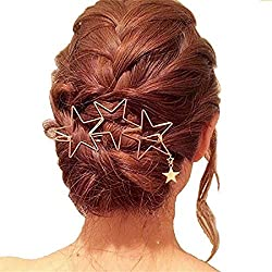 Five-Pointed Star Shape Hair Clips