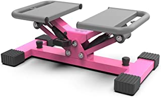Step Machines Home Stepper, Pink Multi-functional Fitness Equipment Stepper Mute Aerobics Free Installation