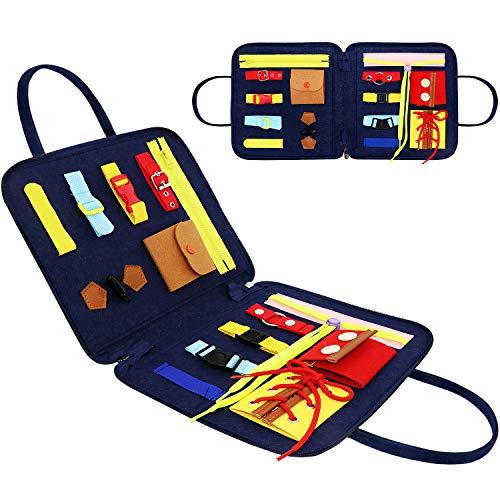 Hieefi Montessori Spielzeug, Aktivitätsboard Kleinkind Sensory Toys Busy Board Grundkenntnisse Montessori ToyLearn zur Verbesserung der Feinmotorik Frühpädagogisches Spielzeug 2, 3, 4, 5 (tragbar)