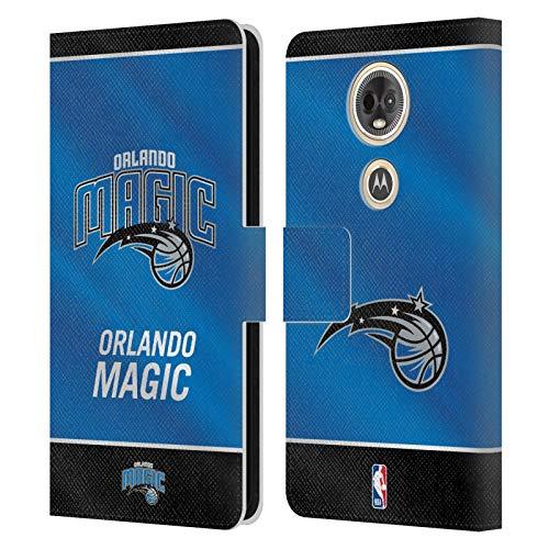 Official NBA Banner 2019/20 Orlando Magic Leather Book Wallet Case Cover Compatible for Motorola Moto E5 Plus