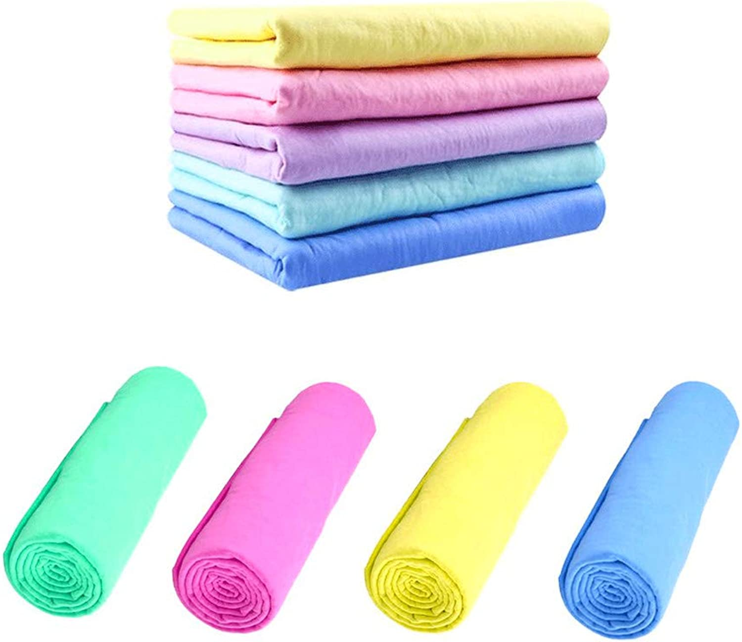 Nexxxi 2 Pack Pet Towels Super Absorbent PVA Bath Chamois for Cats and Dogs