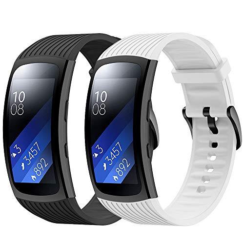 YASPARK Armband Gear Fit 2 Pro/Gear Fit 2, Ersatzarmband Quickfit Armbänder Silikon Uhrenarmband für Gear Fit 2 SM-R360/Gear Fit 2 Pro SM-R365