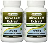 2 Pack - Best Naturals Olive Leaf Extract 700 mg 90 Capsules