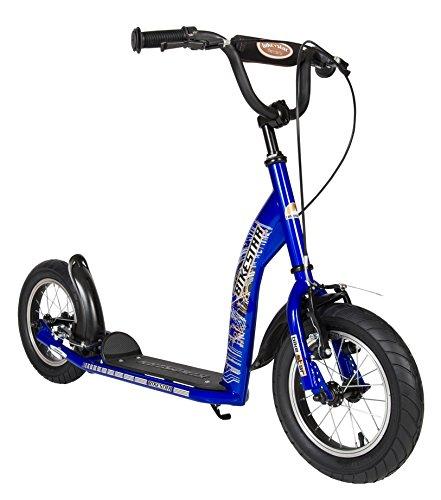 BIKESTAR Roller Kinderroller Tretroller Kickscooter mit Luftreifen für Jungen und Mädchen ab 6-7 Jahre | 12 Zoll Sport Kinder Scooter | Blau | Risikofrei Testen