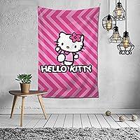 Hellow Kitty3 タペストリーファブリック装飾用品アートプリント 壁掛け布 壁掛け 壁飾り インテリア 布ポスター パーティー リビング 窓 お部屋 和室 お店 雑貨 個性ギフト 新居祝 150*100cm