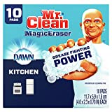 Mr. Clean Magic Eraser Kitchen and Oven Cleaner with Dawn, Cleaning Pads with Durafoam, 10 Count