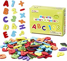 ZazzyKid Magnetic Letters & Numbers for Kids: 103 Foam Magnets for Early Education -Toddler Learn & Play – Math & Alphabets