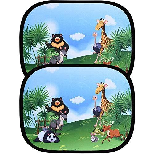 astarye Auto Sonnenblende Baby UV Schutz Auto Sonnenschutz Kinder Selbsthaftende Universal Autofenster Autoblende inkl. Tasche 44 x 36 cm 2 Stück