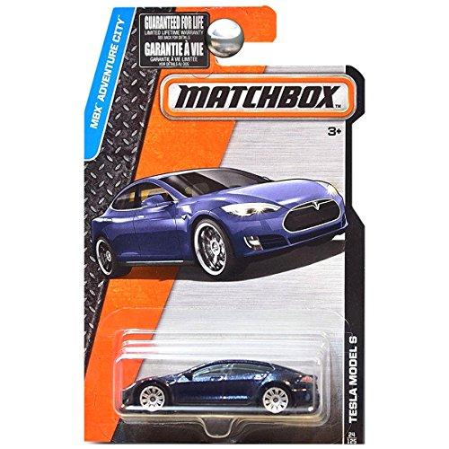 2016 Matchbox MBX Adventure City Tesla Model S 24/125 by Tesla