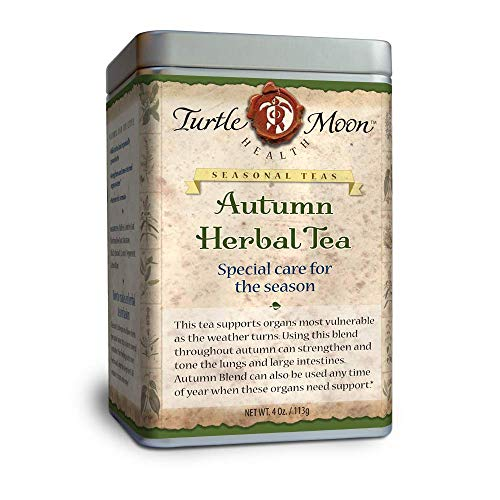 Autumn Herbal Tea Blend: Loose-Leaf, Organic & Wildcrafted, Healing and Medicinal, 4 oz. Tin.