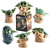 6Pcs/Set Baby Yoda Action Figure Toys 2-2.4 inch Mandalorian Yoda Baby Action Toys Star Wars Yoda Figuras Hot Kids Toys Xmas Gifts Opppackage