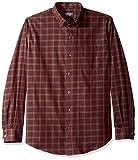 Van Heusen Men's Wrinkle Free Long Sleeve Button Down Shirt, Red Pinot Noir, Large