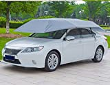 LopazShade Empowered Living - Automatic Tent Carport with Remote Control Portable Automobile Protection Umbrella Sunproof, Windproof, Waterproof Car Canopy (Silver)
