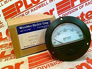 WESCHLER 409C530A63 Panel Meter 3-1/2 Round 0-800AMP