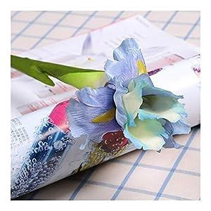 Silk Flower Arrangements ZHXDXF Lifelike Artificial Iris Flower Spring Wedding Decor Home Table Decoration Silk Fake Flower Party Supplies Artificial Flowers