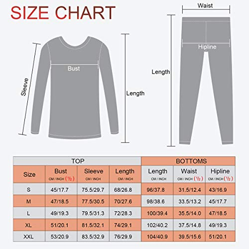 Product Image 3: MeetHoo Thermal Underwear for Men, Fleece Lined Base Layer Set Long Johns for Running Skiing Black
