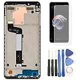 Hypak Pantalla IPS LCD para Xiaomi Redmi Note 5 (Completa con Marco de Color Negro) Incluye Protector de Pantalla y Herramientas VB