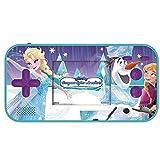 Lexibook - JL2367FZ Disney Frozen Die Eiskönigin ELSA Compact Cyber Arcade Tragbare Spielkonsole, 150 Gaming, LCD, Batteriebetrieben, Blau