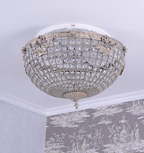 Deckenleuchte Shabby Chic Kristalllüster Deckenlüster Lampe Barock Palazzo Exklusiv