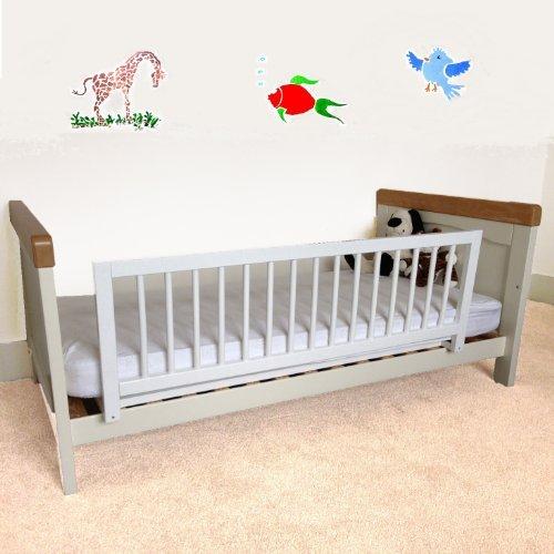Safetots - Barrera protectora de cama, madera, color blanco