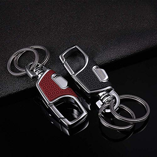 2PCS Key Chain Stainless Combination of Luxury Car Business Keychain for Men