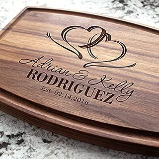 Engagement Custom Keepsake Birthday Housewarming Personalized Engraved Cutting Board Real Estate Closing Gift Anniversary Couples #301 Wedding