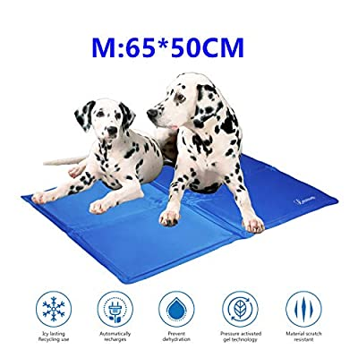 Lauva Dog Cool Mat, Dogs Self Cooling Gel Mat Pads Pet Cat Cool Beds for Dog Crates, Kennels and Beds