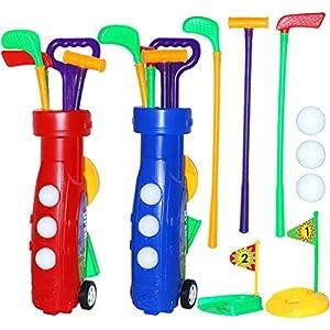 TOYANDONA 1 Satz Kinder Golf Spielzeug Kinder Golf Club Set Golfbälle Kleinkinder Sportspiel für Hinterhof Beach Park Indoor Outdoor