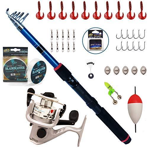 BPS Kit Combo de Pesca Incluye Caña de Pescar Spinning Telescópica Carrete...