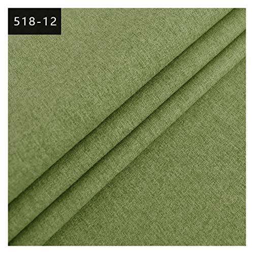 YPASDJH Tela de Lino Tejido de Tela Textil Tela sólida para sofá Muebles Tela Interior Lisa para Patchwork DIY Costura Scrapbooking (Color : L, Size : 100x145cm)